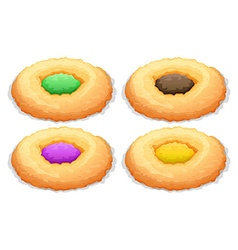 Cookies with color frosting vector image