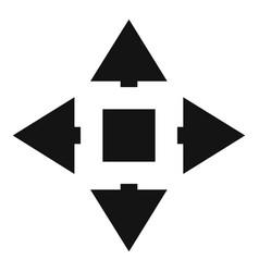 Cursor displacement icon simple black style vector