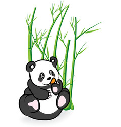 Cute Panda Bear in Bamboo Forrest 03 vector