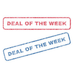 deal of the week textile stamps vector image