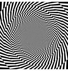 Design monochrome vortex circular background vector