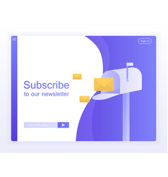 Email subscribe online newsletter vector