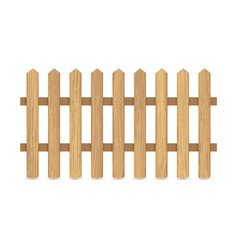 fence wooden boards vector image