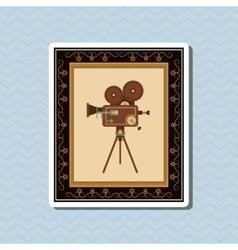 Flat about vintage cinema design vector