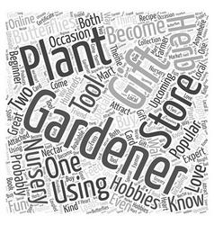 Gardening Gift Word Cloud Concept vector
