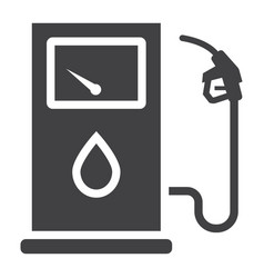 Gas station glyph icon petrol and fuel pump sign vector