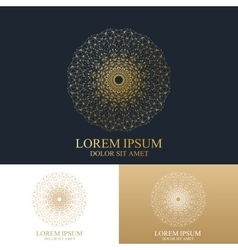 Geometric abstract round form with connected line vector image