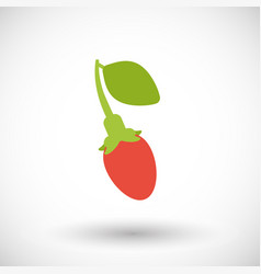 Goji berry flat icon vector