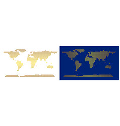 golden dotted world continent map vector image