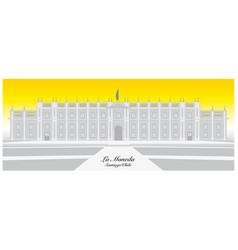 graphic chilean presidential palace la moneda vector image