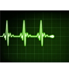 Green heart beat ekg graph eps 8 vector