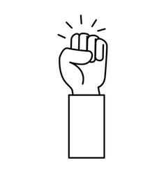 hand up fist icon vector image