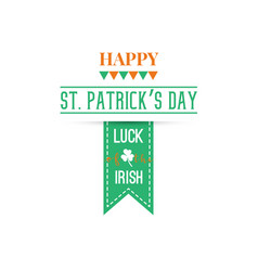 happy st patrick day banner greeting card vector image