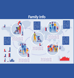 infographic set family structure presentation vector image