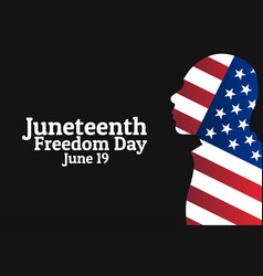 juneteenth freedom day june 19 holiday concept vector image