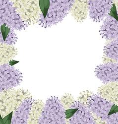Lilac border vector