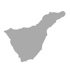 Map of tenerife vector