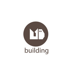 md logo initials template building design vector image