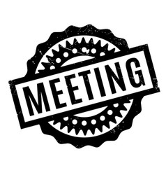 Meeting rubber stamp vector