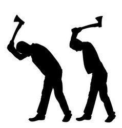 Men with axes vector