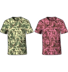 Mens Military Shirts front view template vector