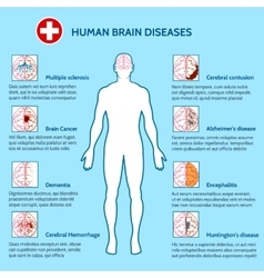 Mental Health and human brain diseases vector image