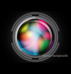 Metal and colors circle shapes vector