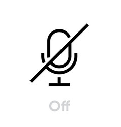 Microphone off icon editable outline vector