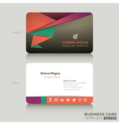 Modern business cards design template vector