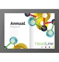 Molecule annual report vector