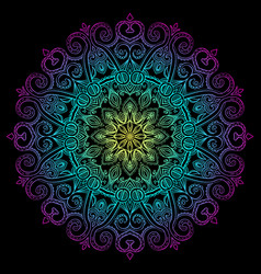 new round mandala-11 vector image