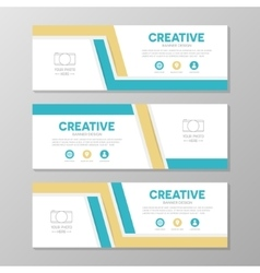 Orange and blue corporate business banner template vector