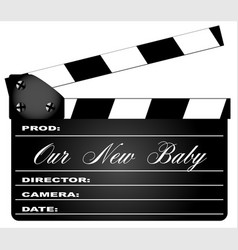 Our new baby clapperboard vector