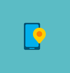 phone pin icon flat element vector image