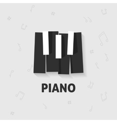 Piano keys flat black and white keyboard vector image