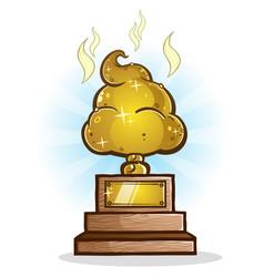 poop trophy cartoon vector image