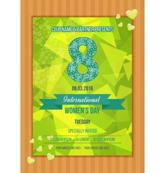 Postcard to March 8 Happy Women s Day vector image