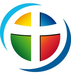 Project logo religion colored vector