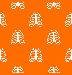 Rib cage pattern seamless vector