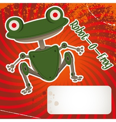 robot frog vector image