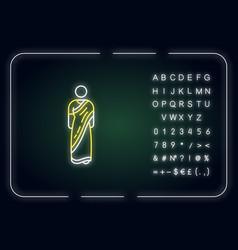 Sari neon light icon vector
