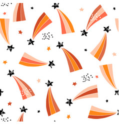 Seamless abstract pattern with retro comets vector