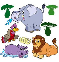 Set of african animals 1 vector