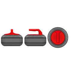 set of curling stones vector image