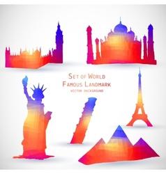 Set of World Famous Landmark vector