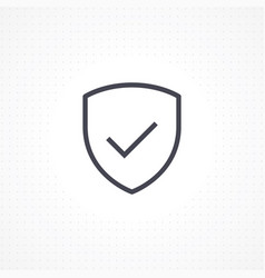 shield security icon vector image