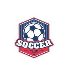 Soccer football club shield ball icon vector
