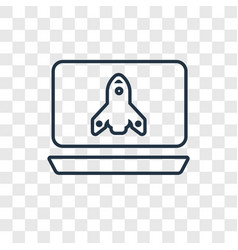 startup concept linear icon isolated on vector image