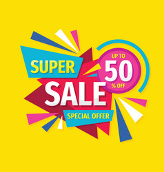 super sale - concept promotion banner abstract vector image