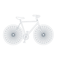 symbol of bike silhouette with outline or vector image